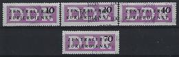 Germany (DDR) 1957 Dienstmarken Fur Den ZKD (**) MNH  Mi.10-13 - [6] Democratic Republic