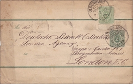 Brief Von Oldenburg Nach London 1885 - Oldenbourg