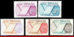 Ref. BR-1257-61 BRAZIL 1975 ., 1974 - M�BIUS STRIP,, ENGRAVINGS, NUMERALS, SET MNH 5V Sc# 1257-1261 - Ungebraucht