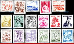 Ref. BR-1441-57 BRAZIL 1976 JOBS, NATIONAL PROFESSIONS,, 1977, 1978, SET COMPLETE MNH 17V Sc# 1441-1457 - Brazilië