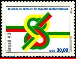 Ref. BR-2430 BRAZIL 1993 JOINT ISSUE, TREATY OF FRIENDSHIP WITH, PORTUGAL, MI# 2556, MNH 1V Sc# 2430 - Brasil
