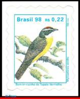 Ref. BR-2498 BRAZIL 1998 - BIRDS, 'BEM-TE-VIZINHO', ANIMALS, & FAUNA, MI# 2808, DEFINITIVE MNH,1V Sc# 2498 - Verzamelingen, Voorwerpen & Reeksen