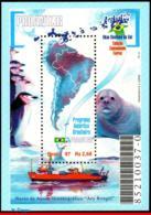 Ref. BR-2630 BRAZIL 1997 SHIPS, BOATS, ANTARCTIC PROGRAM, FOCA,, PROANTAR, PENGUIN, MAPS, MI# B107, MNH, 1V Sc# 2630 - Bases Antarctiques