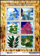 Ref. BR-2883 BRAZIL 2003 FLOWERS, PLANTS, MEDICINAL PLANTS, UPAEP,, AMERICA ISSUE, MI# 3301-06, S/S MNH 6V Sc# 2883 - Brésil