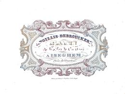 Porceleinkaart Angillis - Debrouckere - Izegem 9.5 Cm X 13 Cm - Izegem
