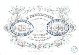 Porceleinkaart P. Parmentier Fabricant De Toiles - Izegem - 11,5 X 8 Cm - Izegem