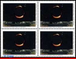 Ref. BR-V2019-07-Q BRAZIL 2019 SCIENCE, SOLAR ECLIPSE IN SOBRAL,, ALBERT EINSTEIN, RELATIVITY, BLOCK MNH 4V - Brasile