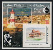France //  Bloc CNEP Salon D'Automne à Paris- Saint-Pierre Et Miquelon - CNEP
