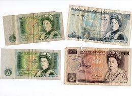 Billet Anglais 1 Et 5 Et 10 Livres - 1952-… : Elizabeth II