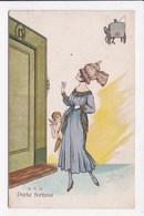 CP ILLUSTRATEUR ITALIE  Femme Porta Fortuna - Illustratori & Fotografie