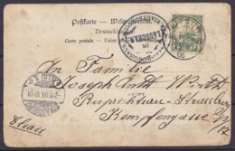 "Kiautschou - CP Affr. 2c Càd ""LITSUN / KIAUTSCHOU /29/9 / 1906"" Pour STRASBOURG - Càpt Arrivée STRASSBURG /-2.11.06 - Colonie: Kiautchou"