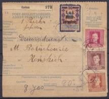 """Autriche - Bulletin D'expédition Affr. Tps Poste Militaire K.u.K Feldpost Càd """"K.U.K. ETAPPENPOSTAMT /10.X.1918/ RADOM"""" - 1850-1918 Impero"""