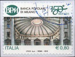 REPUBBLICA 2015 - BANCA POPOLARE DI MILANO - SERIE COMPLETA USATA - 2011-...: Usati