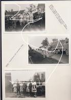 Strée (Beaumont). Passage Troupes US En Septembre 1944. Filles Du Coin Avec Jupes Faites De Drapeaux Alliés. Repros. - 1939-45