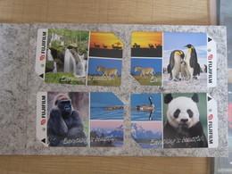MRT Metro Ticket Card, Fujifilm Series,panda,pinguins,waterfall, Set Of 4 In Folder - Singapur