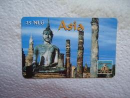 ASIA  PREPAID  CARDS MOMUMENTS - Télécartes