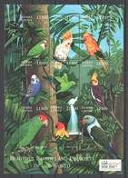 PK149 2000 SIERRA LEONE FAUNA BIRDS BEAUTIFUL PARROTS & PARAKEETS 1SH MNH - Papagayos