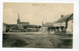 CPA  02 : MENNEVILLE   La Place   A  VOIR   !!!! - France