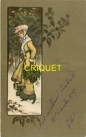 Illustrateur Parkinson , M M Vienne N° 310, Jeune Femme Avec Panier De Houx - Vienne