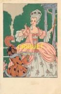 Illustrateur Le Monnier, Croquis De Paris, Jeune Femme Et Serviteur Avec Une Lettre, Carte Pas Courante - Illustrateurs & Photographes
