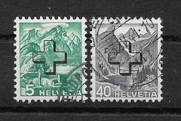 SUISSE Service 1938 YT 151 & 158 Oblitérés (regroupement éco.) - Service