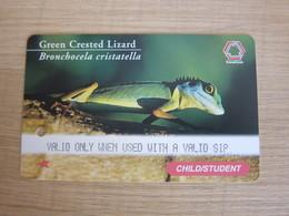 Translink Multi Transport Ticket, Child/Student Farecard, Lizard,used - Singapur