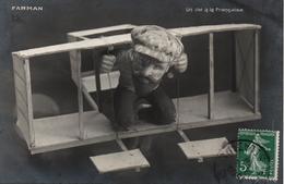 AVIATION AEROPLANE CARTE HUMOURISTIQUE 1909  FARMAN  VOL A LA FRANCAISE    A VOIR  !!!!!! - Autres