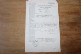 Extrait Mortuaire Second Empire  Lieutenant Des Zouaves  Algérie - Documents Historiques