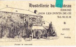 Tin-  49 M & Loire  Carte PUB  ERIGNE / LES PONTS De Cé - Les Ponts De Ce