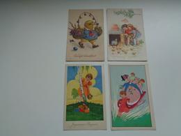 Beau Lot De 50 Cartes Postales De Fantaisie  Pâques    Mooi Lot Van 50 Postkaarten Fantasie  Pasen  - 50 Scans - Postkaarten