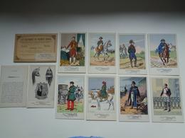 Beau Lot De 9 Cartes Postales + Pochette De Fantaisie : Les Uniformes Du Premier Empire - Illustrateur - Napoleon - Postkaarten