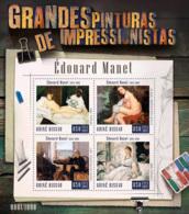 Guinea Bissau  2015  Paintings Of Edouard Manet - Guinea-Bissau