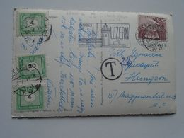 D169609 CH - Luzern Lucerne - Postage Due Hungary Porto Stamps  1957 - LU Lucerne