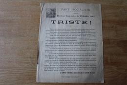 Politique  Parti Socialiste 1907  Lille    Nord - Documents Historiques