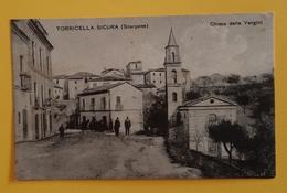 Cartolina Torricella Sicura - Scarpone - Chiesa Delle Vergini - 1903 - Teramo