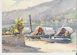 ISOLA PESCATORI. CP Barques De Pêche D'après Peinture - Italie