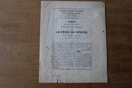 Le Fusil De Sureté Par Mr Briand  1857  Rapport Pour La Création D'un Cran De Sureté Sur Les Armes De Chasse - Documents