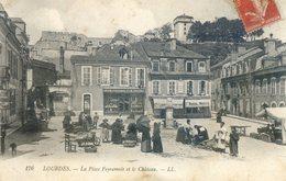 211A.  La Place Peyramale Et Le Château - Lourdes