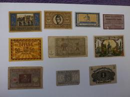 LOT DE 10 BILLETS A IDENTIFIER, VOIR SCAN RECTO-VERSO - Banknotes