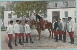 CPA:  Régiment De Cavalerie-Dragons :     La Voltige,  Instruction.   (E2788) - Régiments