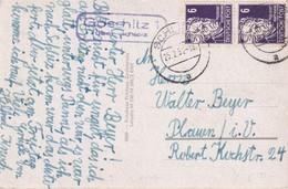 DDR 1952 CARTE POSTALE DE GOSCHITZ ÜBER SCHLEIZ - Storia Postale