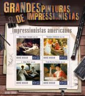 Guinea Bissau  2015  Paintings  Of  American Impressionists - Guinea-Bissau