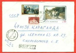 Romania 1977. Envelope Past Mail. Airmail. - Cartas