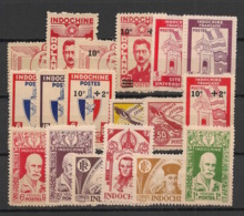 Indochine - 1943-44 - N°Yv. 274 à 291 - Complet - 18 Valeurs - émis NSG / MNG As Issued - Indochine (1889-1945)