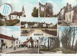 37 - Très Belle Carte Postale Semi Moderne De   GIZEUX  Multi Vues - Other Municipalities