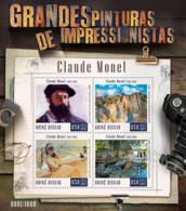 Guinea Bissau  2015  Paintings Of Claude Monet - Guinea-Bissau