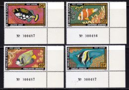 Wallis Et Futuna PA 1978 Yvert 76 / 79 ** TB Coin De Feuille - Luftpost
