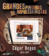 Guinea Bissau  2015  Paintings Of Edgar Degas - Guinea-Bissau