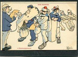 CPA - Illustration Gervèse - NOS MARINS - L'Embarquement - Guerra