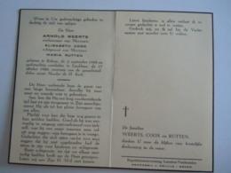 Doodsprentje Arnold Weerts Rekem 1888 Lanklaar 1960 Echt Elisabeth Coox En Maria Rutten - Devotion Images